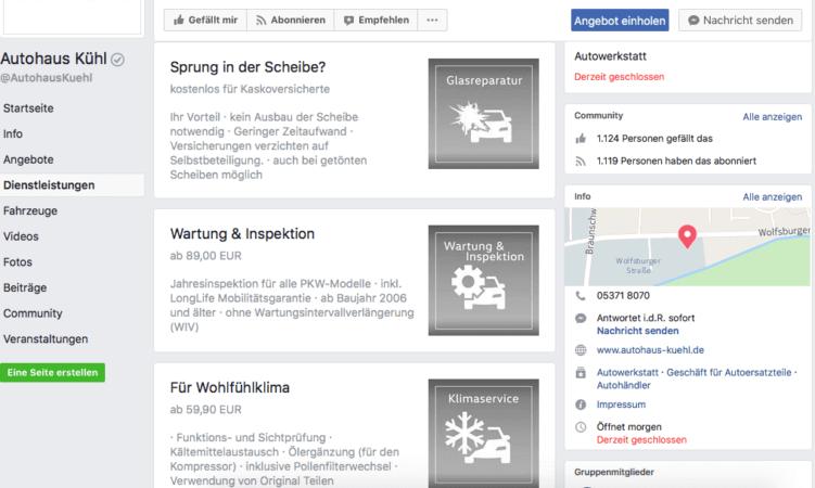 facebook-dienstleistungen-funktion