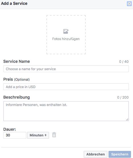 facebook-dienstleistungen