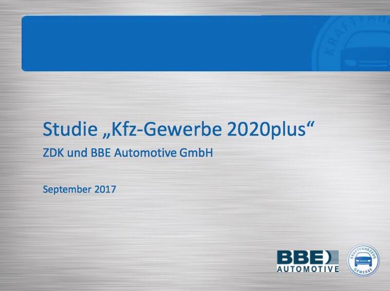 """Erkenntnisse aus der Studie """"Kfz-Gewerbe 2020plus"""""""