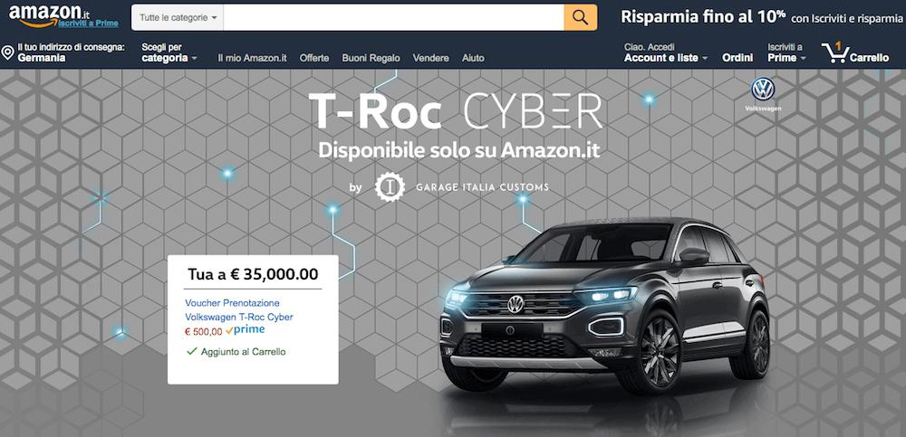 Warum VW den T-Roc zum Cyber Monday auf amazon.it online vertreibt?