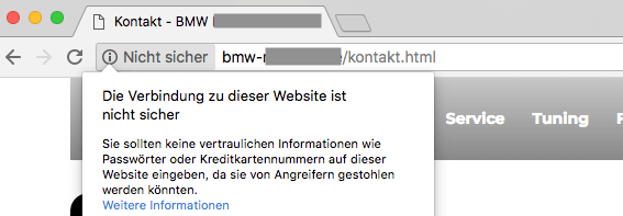 website-ohne-ssl-verschlüsselung